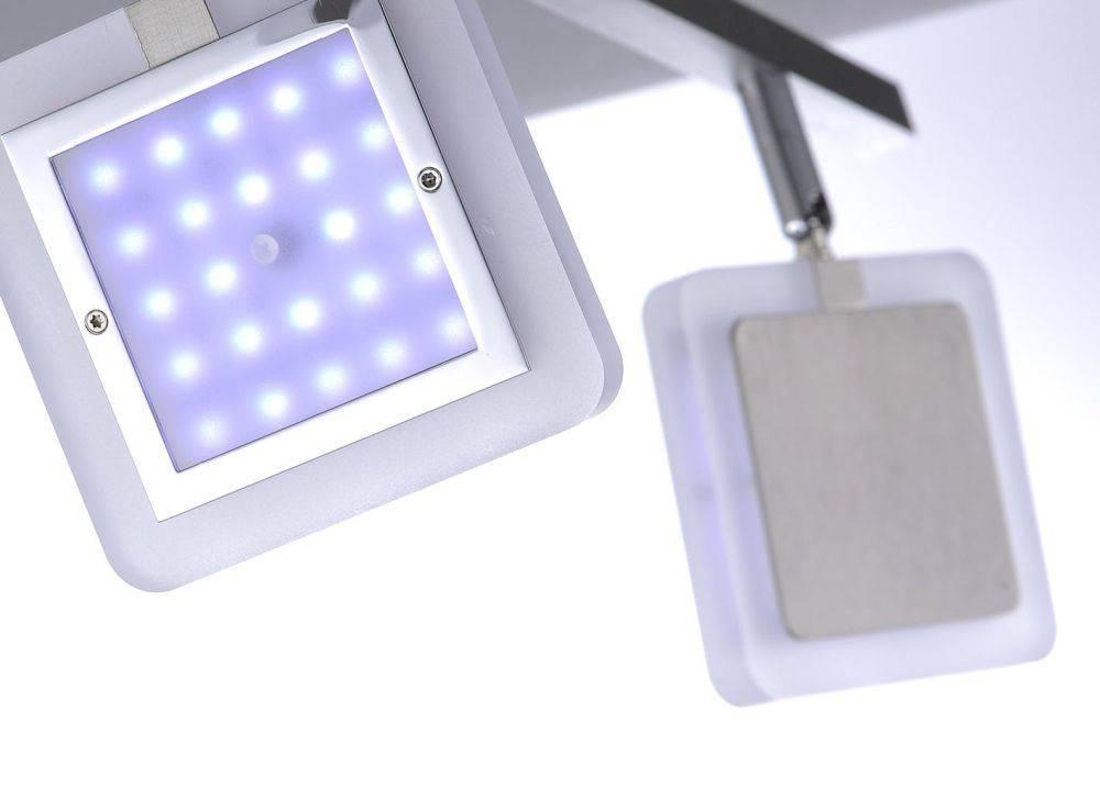 Q-VIDAL Deckenleuchte Smart-Home mit 4 Leuchtköpfen und Farbwechsel und Fernbedienung inkl. Dimmfunktion