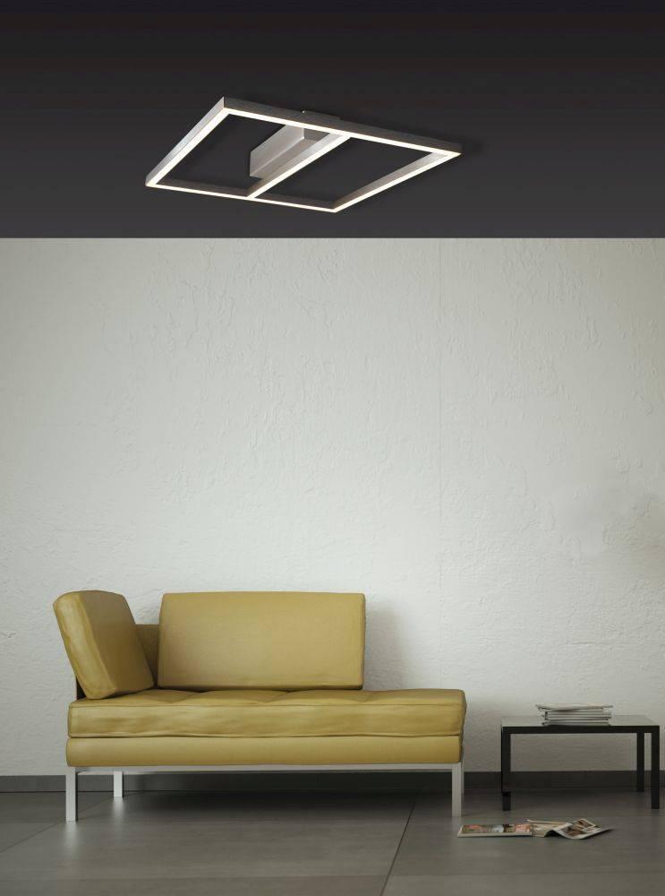 LED-Deckenleuchte in Stahl und futuristuschem Design mit warmweißer Lichtfarbe ist energiesparend