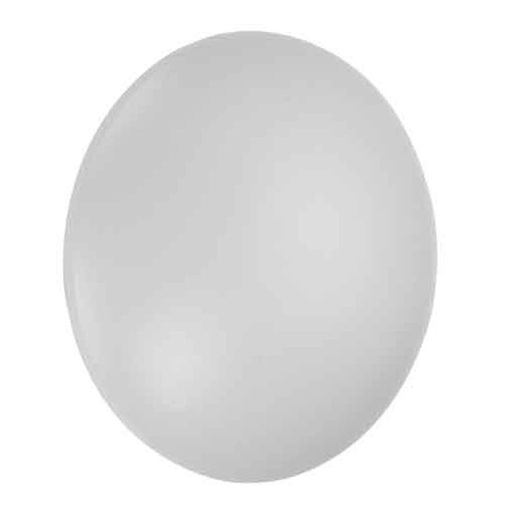 Deckenleuchte, schlicht, rundes Design, weißes Acrylglas, blendfrei, modern