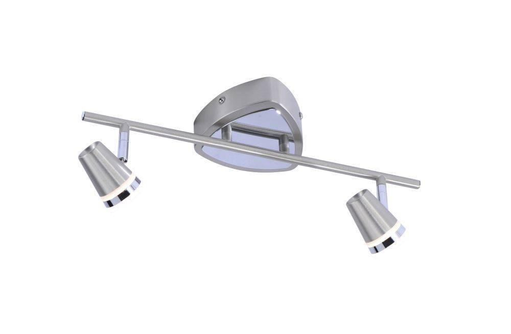 LED-Deckenleuchte, 2 Leuchtenköpfe,warmweißes Licht, XMO-LED, chrom,