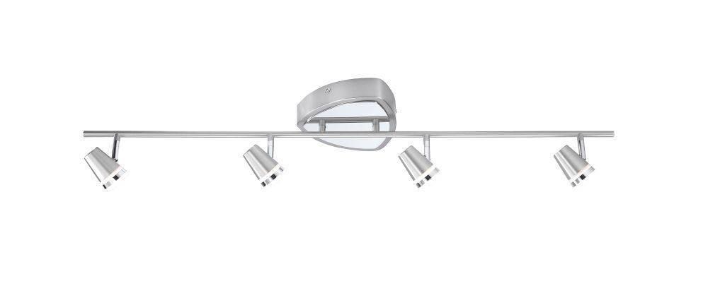 LED-Deckenleuchte in Stahl mit 4 Leuchtköpfen inkl. Dimmfunktion und Austauschfähigkeit der Leuchtmittel