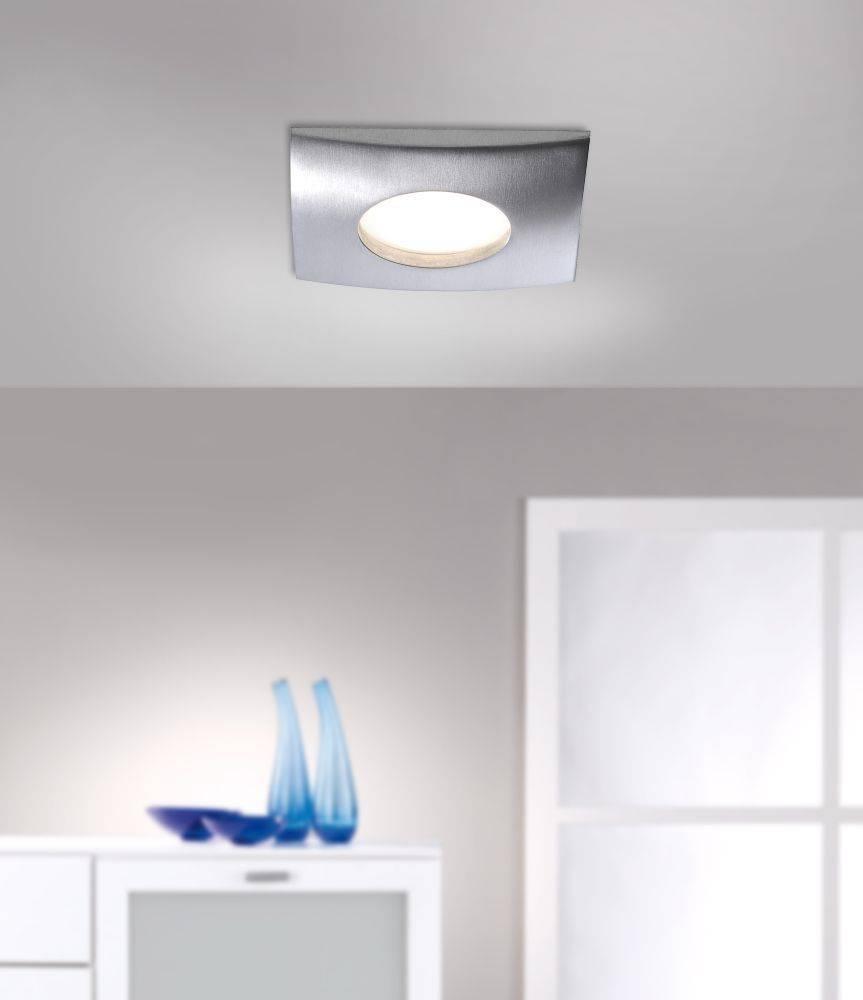 LED-Einbauleuchte in Aluminium und quadratisch inkl. Switchmo Dimmfunktion ist spritzwassergeschützt