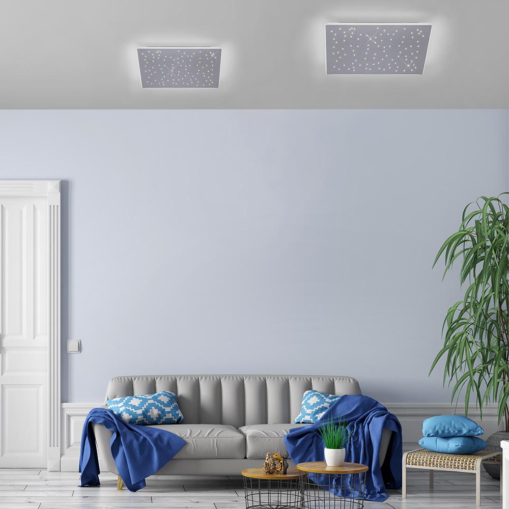 Q-NIGHTSKY LED-Deckenleuchte quadratisch Smart Home mit Sternendekor