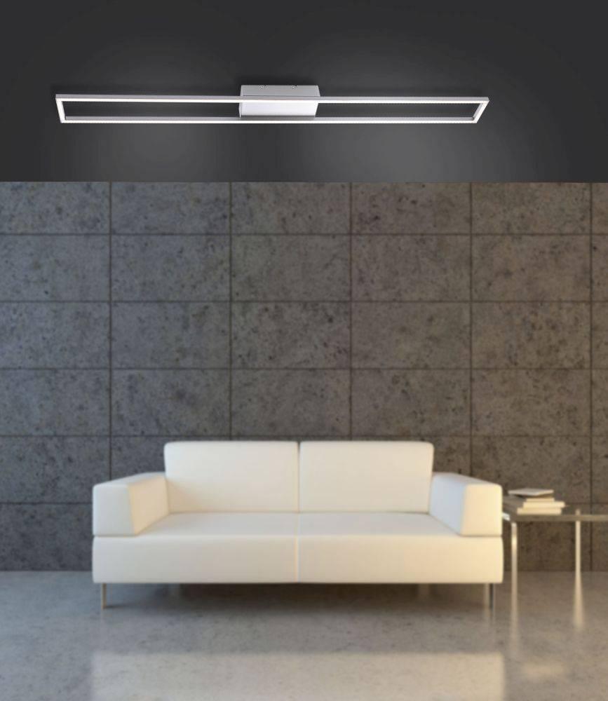 LED-Deckenleuchte mit rahmenförmigen Leuchtmitteln und warmweißer Lichtfarbe inkl. Dimmfunktion