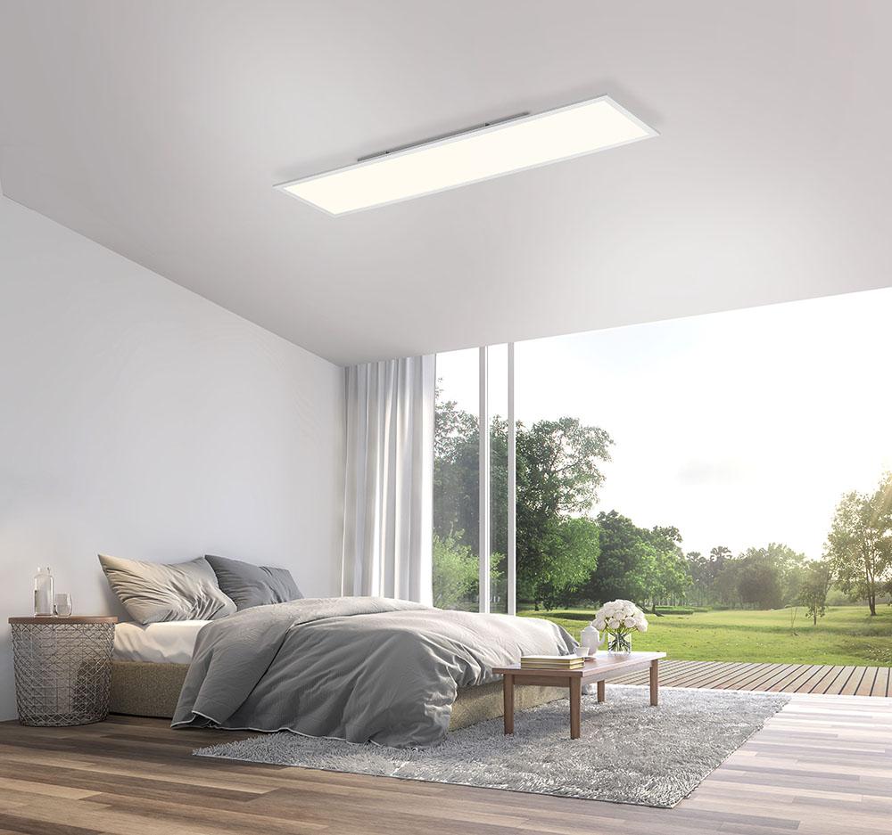 Paul Neuhaus, Q-FLAG, 120x30cm, LED Panel, LED-Deckenleuchte, Smart Home