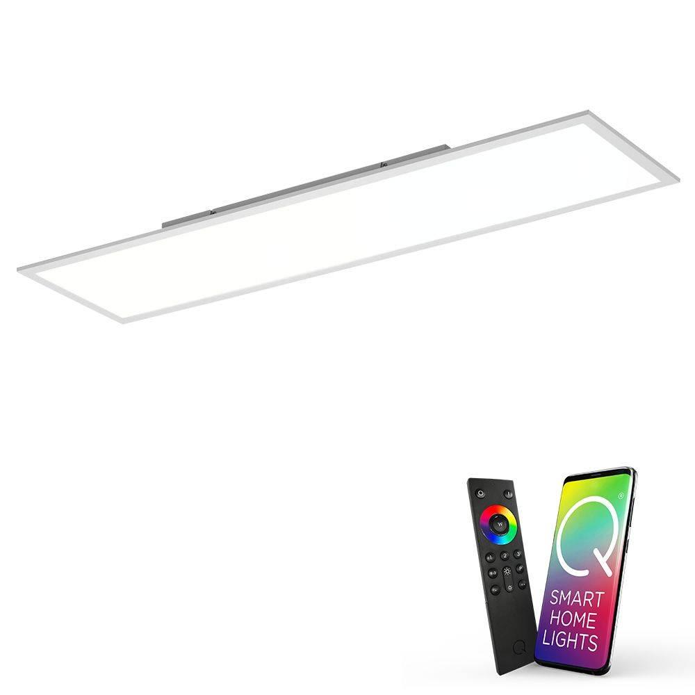 LED-Panel Q-FLAG in rechteckiger Form mit Smart-Home Funktion inkl. Funk-Fernbedienung