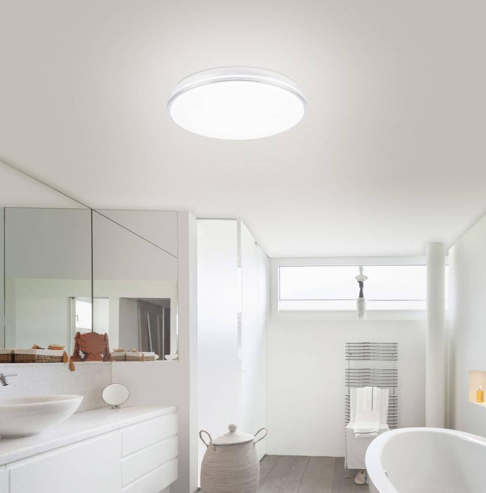 Q-BENNO LED-Deckenleuchte Smart-Home in weiß mit Lichtfarbsteuerung inkl. Memory- und Dimmfunktion