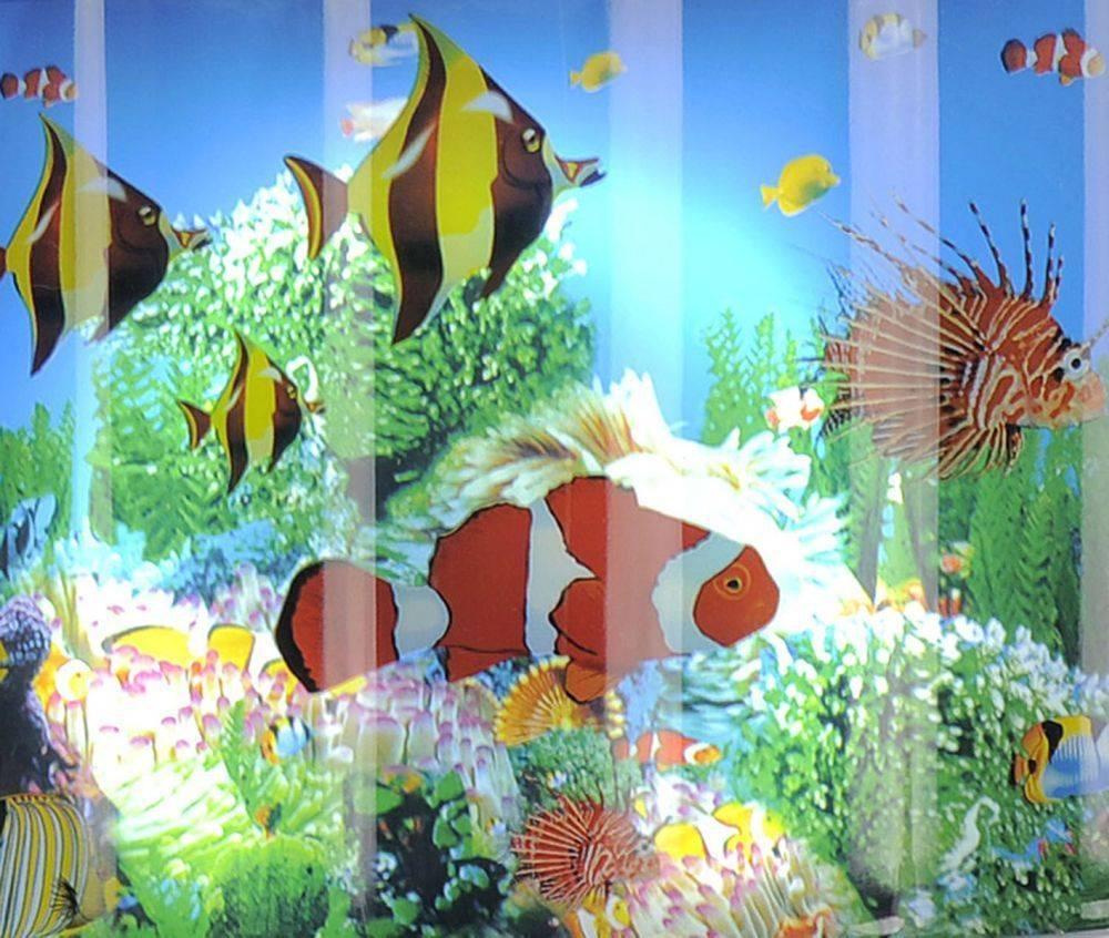 LED Dekorationsleuchte als Kinderleuchte in Aquarium Form mit Fische Motiv