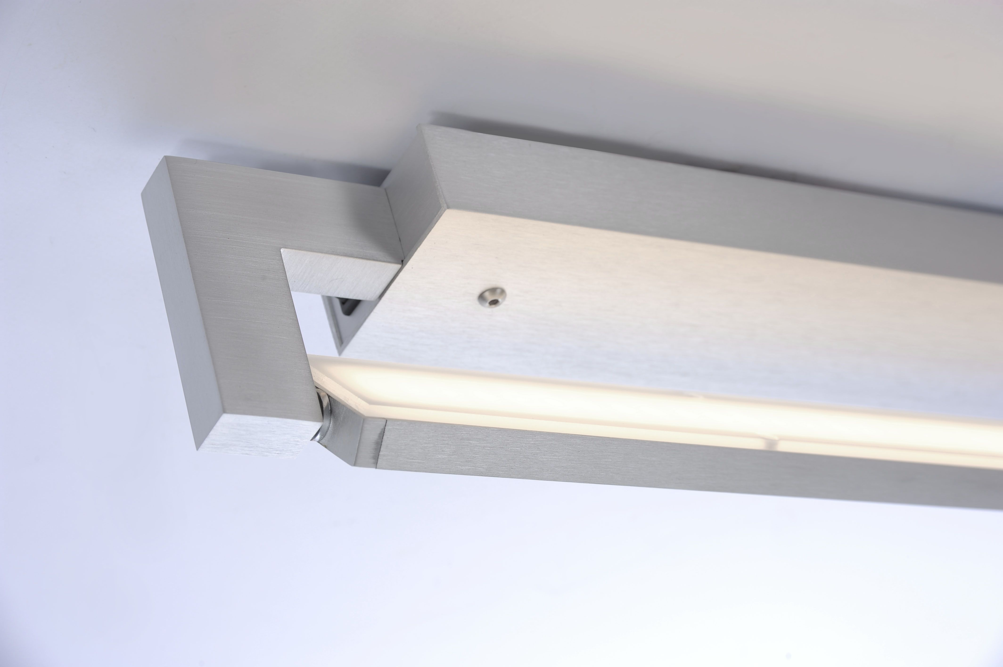 Q-MATTEO LED Deckenleuchte, Smart Home, aluminiumfarben, verstellbar
