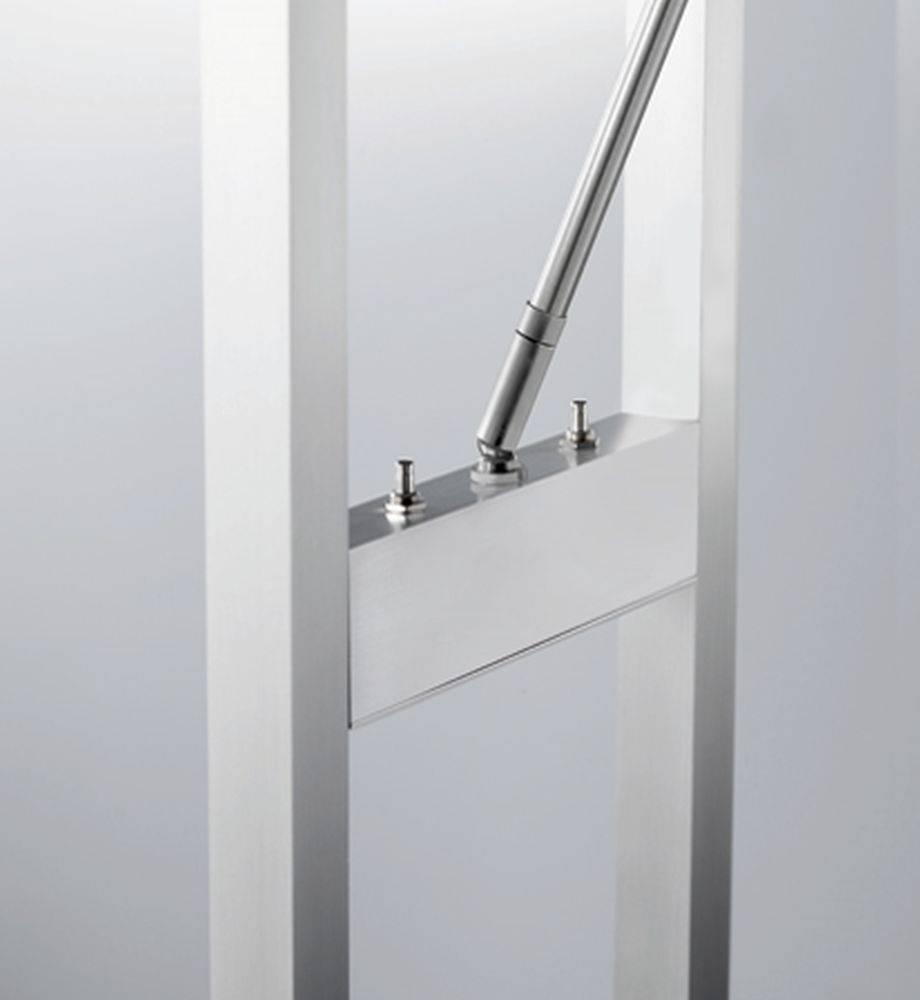 led deckenfluter mit leseleuchte platin aluminium ebay. Black Bedroom Furniture Sets. Home Design Ideas
