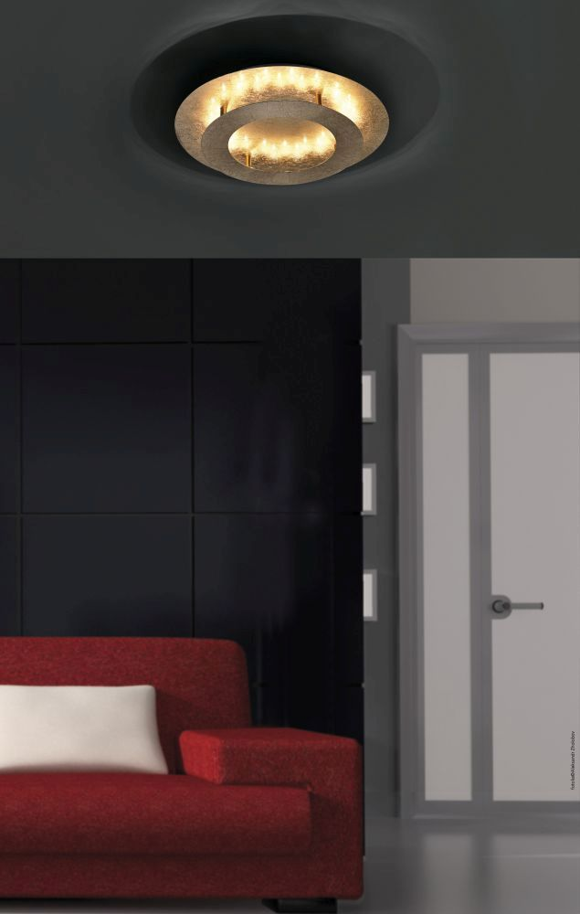 led deckenleuchte blattgold indirekt blendfrei. Black Bedroom Furniture Sets. Home Design Ideas