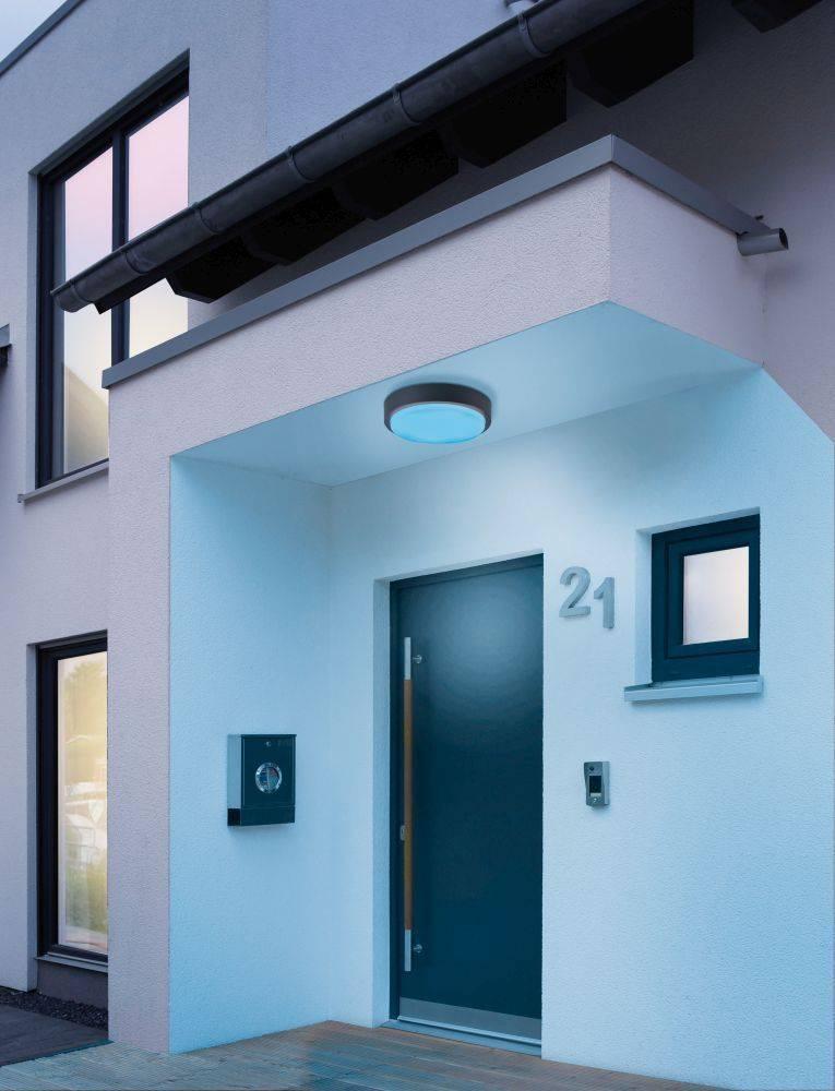 Q-LENNY Außenleuchte Smart-Home mit RGB Farbwechsel, Funk-Fernbedienung mit Dimm- und Memoryfunktion
