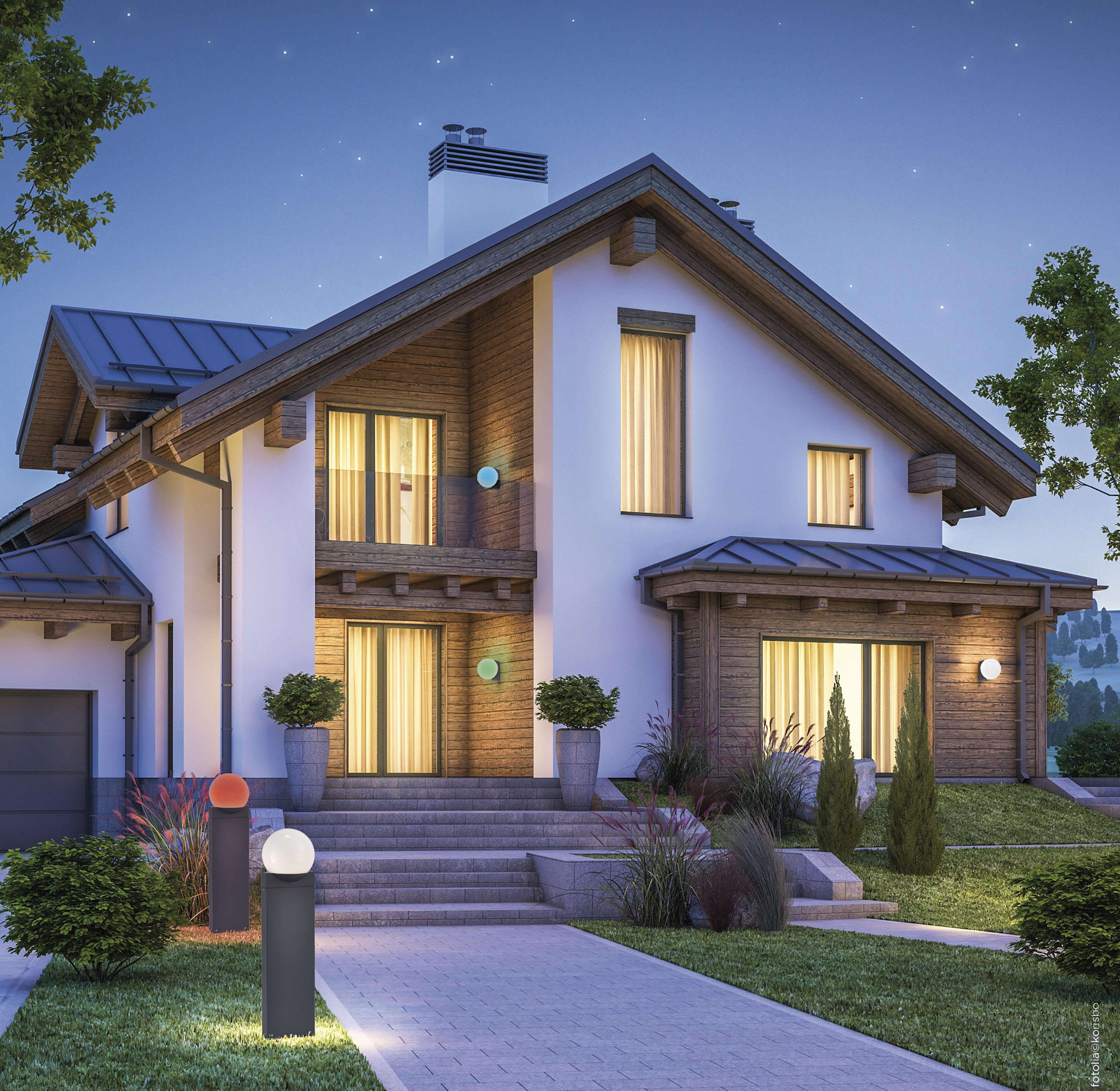 Q-LINO Außenleuchte Smart-Home, RGB Farbwechsel inkl. Dimmfunktion, spritzwassergeschützt (Auslauf)