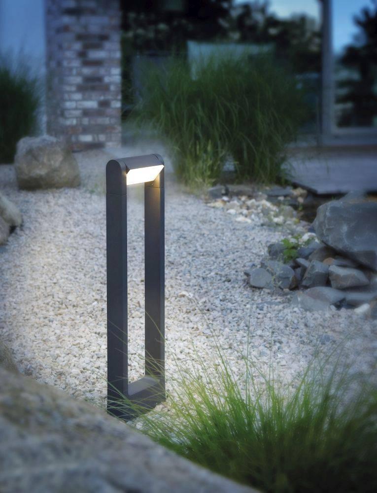 Q-ALBERT Wegleuchte Smart-Home mit RGB Farbwechsel inkl. Dimmfunktion ist spritzwassergeschützt