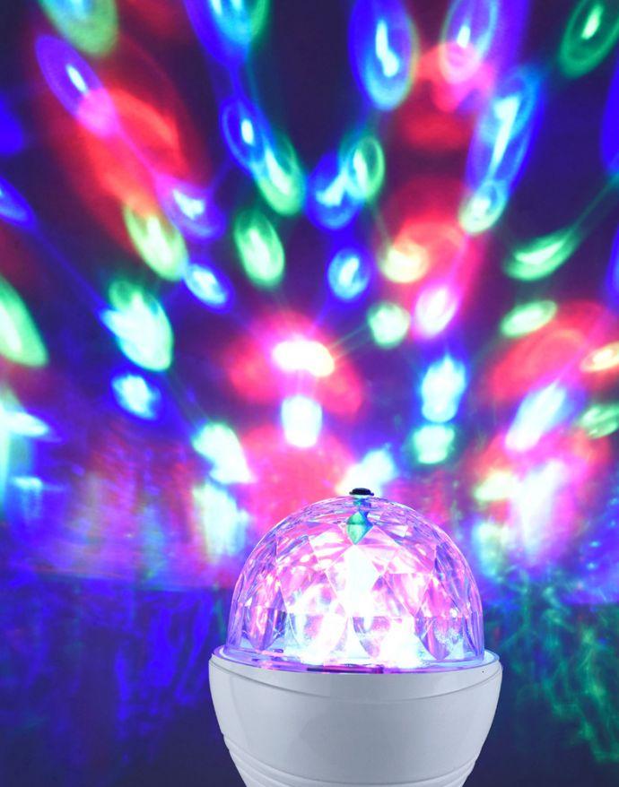 LED-Partylicht, Leuchtmittel E14, Spiegelkugeleffekt
