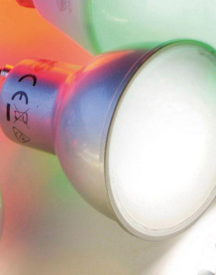 LED-Lampe GU10, RGB+W , incl. Fernbedienung, Retro-Fit