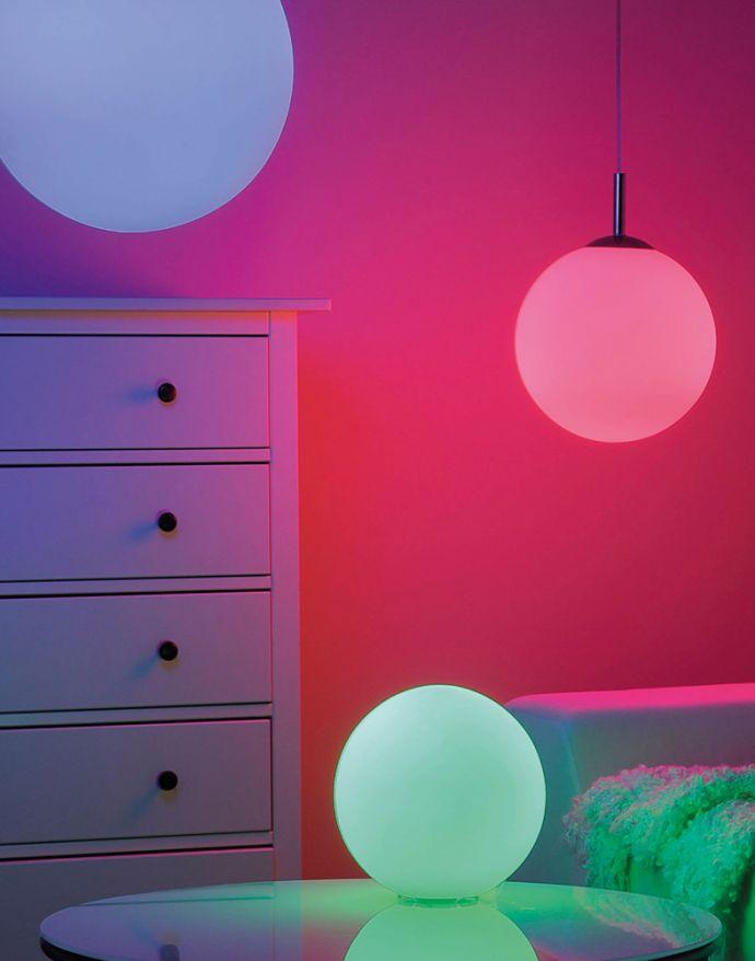 LED Leuchtmittel, E27 Fassung, RGB+W, dimmbar