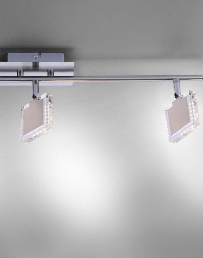 LED-Deckenleuchte, stahl, 3 verstellbare Leuchtköpfe, warmweiß, blendfrei