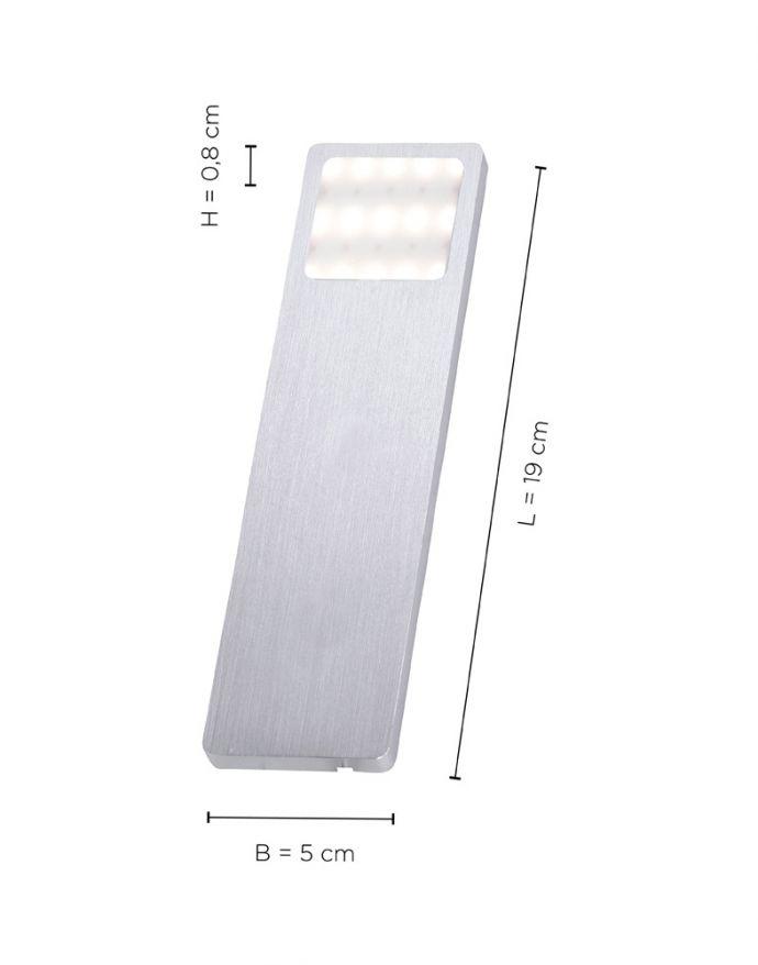 LED-Unterbauleuchten, 3er Set, Aluminium, inkl. Zuleitung, Sensorschalter