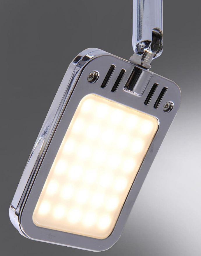 LED-Deckenleuchte, chrom, warmweiße Lichtfarbe, energiesparend, modern