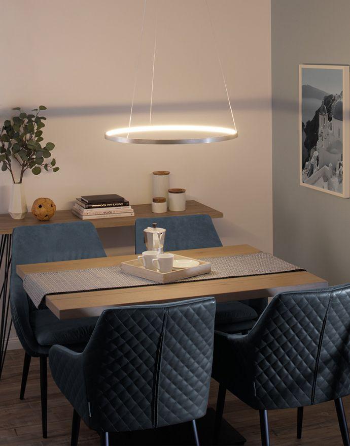 LED-Pendelleuchte, Ø 60cm, dimmbar, warmweißes Licht, modernes Design