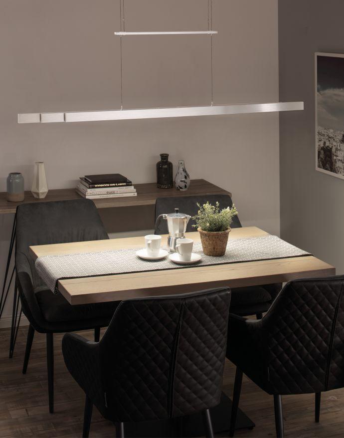 LED-Pendelleuchte, Alu, höhenverstellbar, ausziehbar, Touchdimmer
