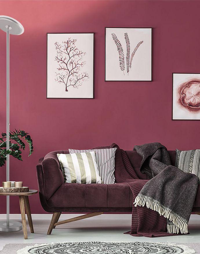 LED-Deckenfluter, stahlfarben, rund, warmweißer Lichtfarbe, Touchdimmer