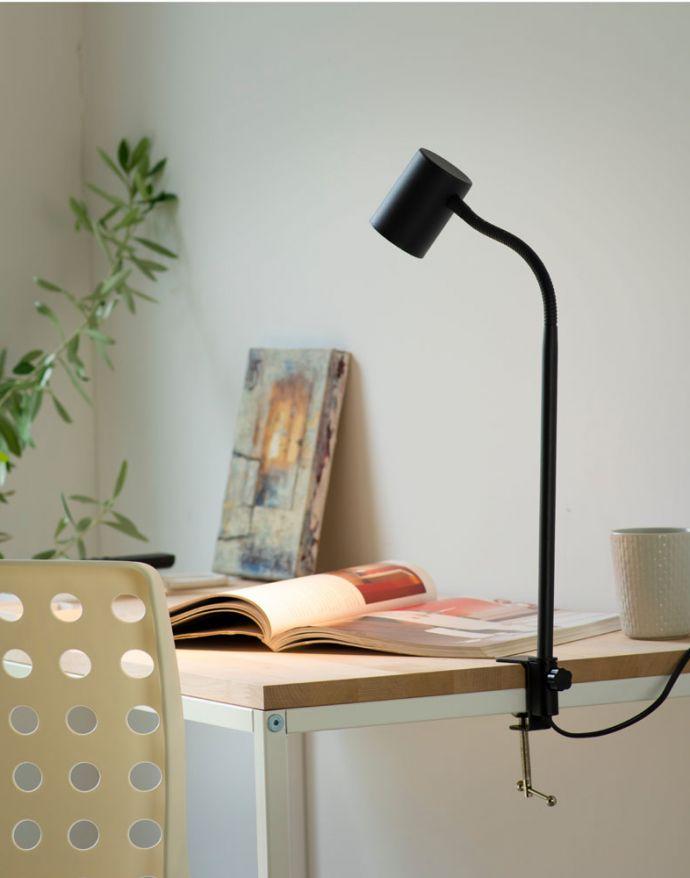 LED-Klemmleuchte, anthrazit, flexibel, GU10, Schreibtischleuchte