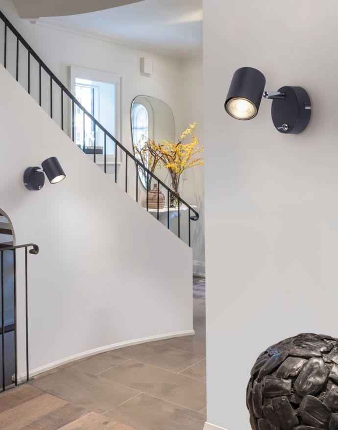 LED-Wandleuchte, Anthrazit, 1-Flammig, schwenkbar, drehbar, warmweiß