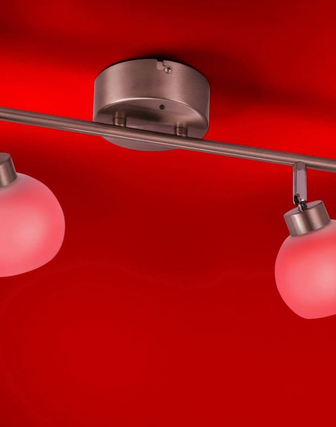 LED-Deckenleuchte, stahlfarben, 2-flammig, Opalglas, inkl. Fernbedienung