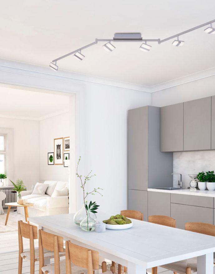 LED-Deckenleuchte, Smart Home, LOLAsmart, CCT, RGB, dimmbar, Fernbedienung, 6-flammig