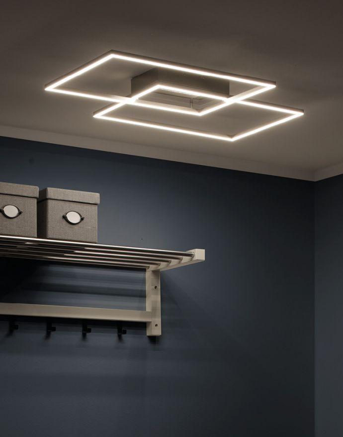 LED-Deckenleuchte, stahlfarben, CCT Steuerung , dimmbar, modern
