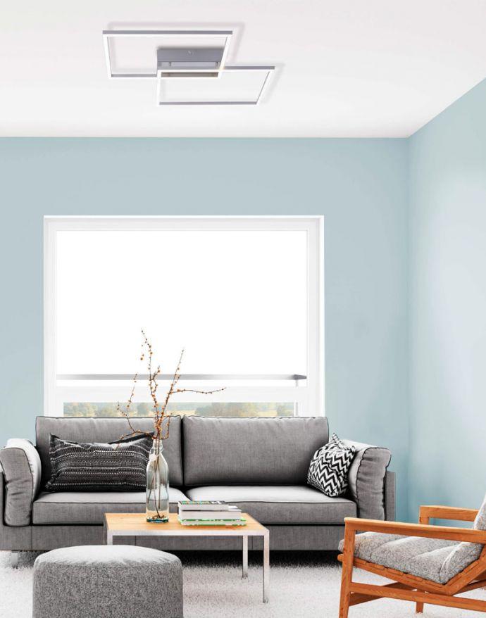 LED-Deckenleuchte, 75,5x56,2cm, CCT-Farbmanagement, Fernbedienung, Memory Funktion