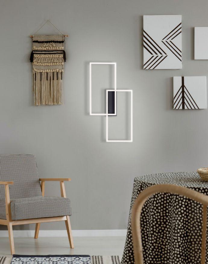 LED Deckenleuchte, schwarz, modern, Farbsteuerung, dimmbar, Fernbedienung