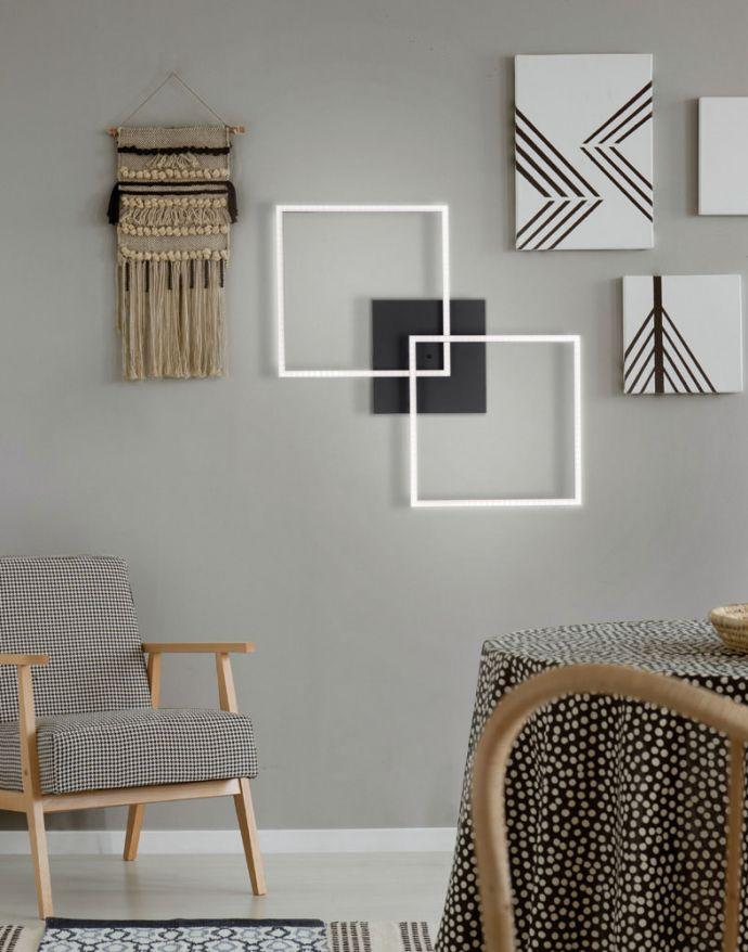 LED Deckenleuchte, schwarz, Lichtfarbensteuerung, Fernbedienung, dimmbar