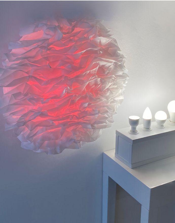 LED-Deckenleuchte, Naomi, Stoffschirm, weiß, warmweiß-tageslichtweiß, Ø49cm