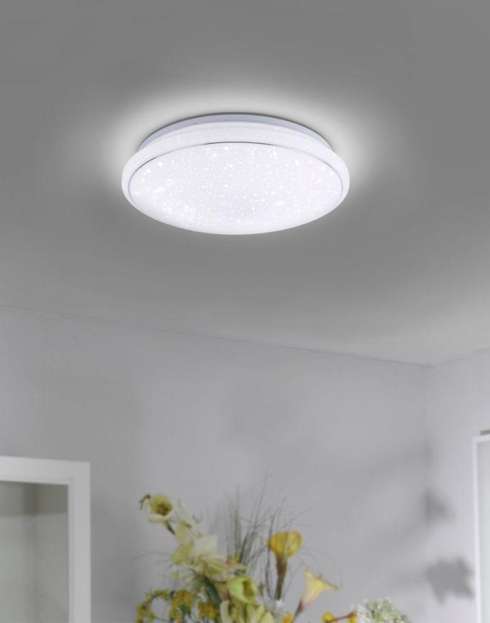 LED Deckenleuchte, rund, weiß, Sternoptik, Ø44cm, zeitlos, Lola