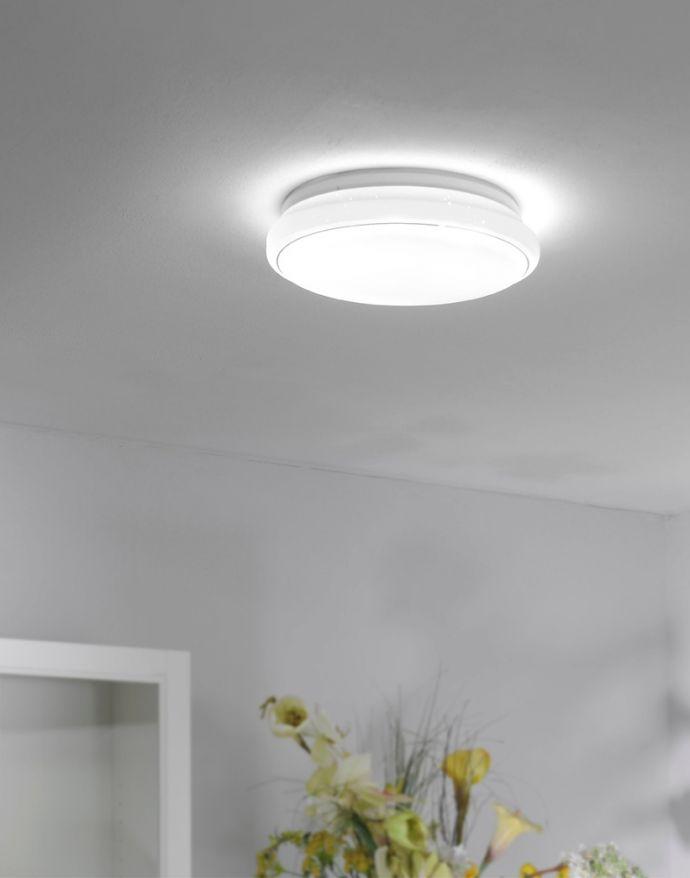 LED-Deckenleuchte, rund, Ø35cm, Sternenhimmel, Farbwechsel, CCT