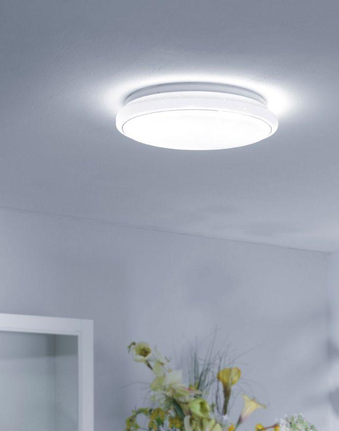 LED-Deckenleuchte, Sternenhimmeloptik, Glitzer, Rund, dimmbar