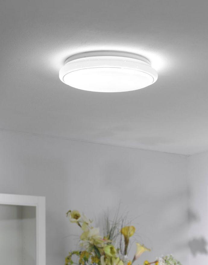 LED-Deckenleuchte Ø 80cm, Lichtfarbsteuerung, Serienschalter, Fernbedienung, Dimmbar