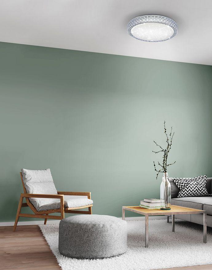 LED-Deckenleuchte, Sternenhimmel, Lichtfarbsteuerung, Ø 40cm, modern