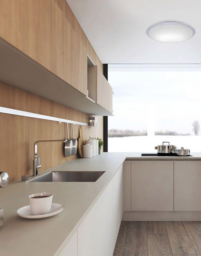 LED-Deckenleuchte, rund, Ø 60cm, Sternenhimmel, modern,dimmbar