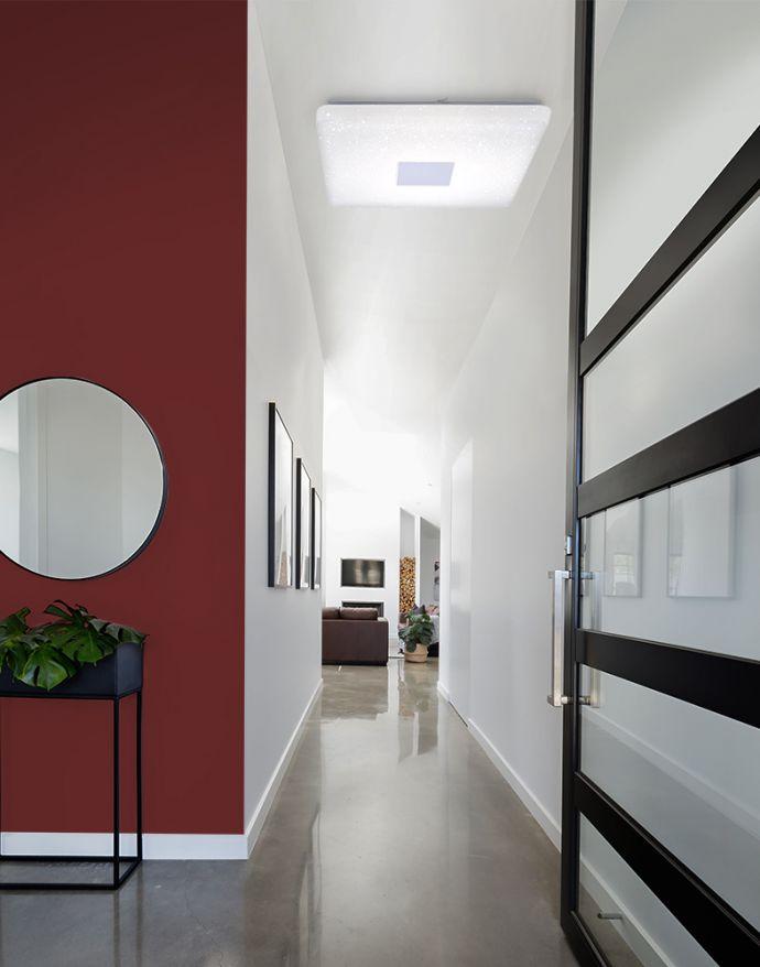 LED-Deckenleuchte, Sternenhimmel-Optik, 80x80cm, quadratisch