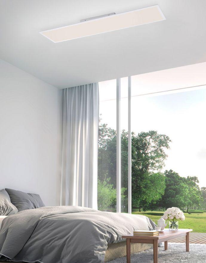 LED Panel, Deckenleuchte, weiß, 100x25 cm, dimmbar, Smart-Home