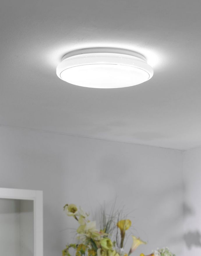 LED Deckenleuchte, Smart Home fähig, RGB+W, Fernbedienung, Sternenhimmeloptik