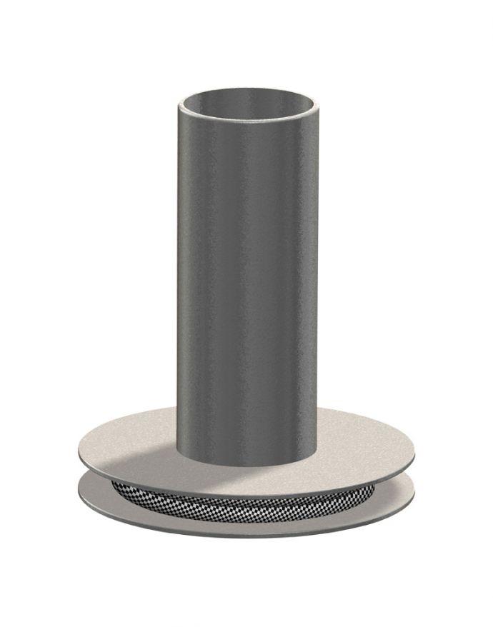 Tischleuchte, silbermatt, Industrial-Design, E27 Leuchtmittel