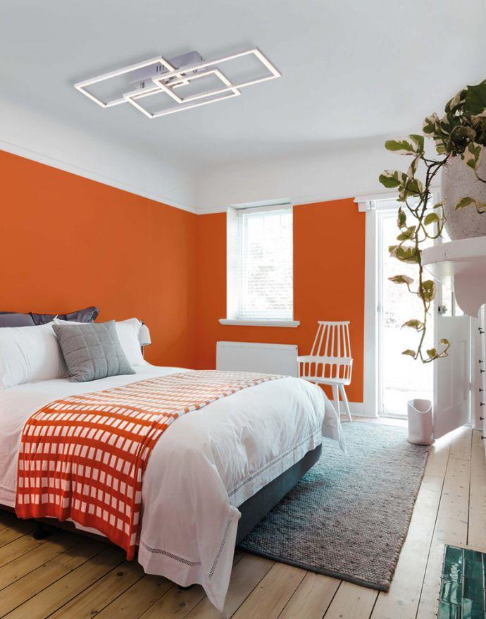 LED Deckenleuchte, stahl, inkl. Dimmfunktion, modern, energieeffizient