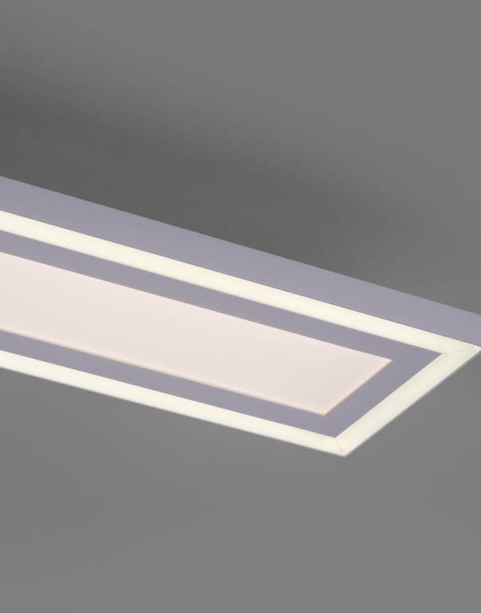 LED Deckenleuchte, weiss, 100x11,8cm, CCT Farbmanagement, dimmbar, inkl. Fernbedienung