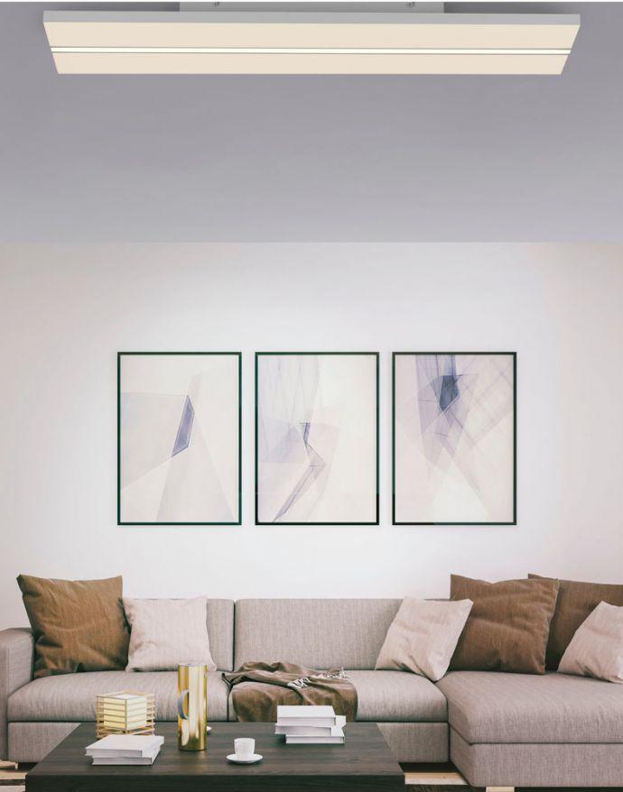 LED-Panel, Deckenleuchte, 100x25cm, flach, modern, Fernbedienung, CCT
