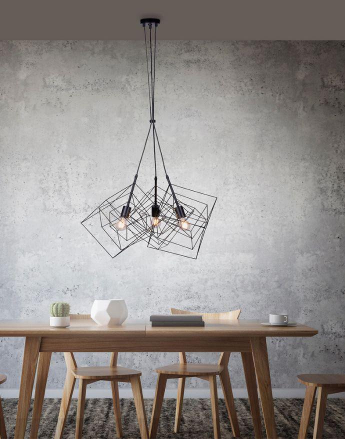 Pendelleuchte, schwarz, Metallkörben, Retro Design, E27, individuelle Licht